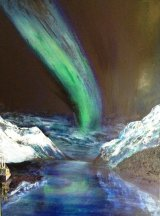 Northern Lights 170cm x 50cm Oil on canvas £170