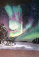 Northern Lights 2  35cm. x 30cm Pastel NFS