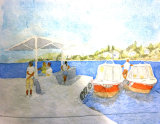By the Pier  Watercolour