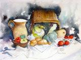 """ Cornucopia of Vegetables""  Watercolour £95"