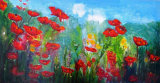 Poppies Mixed Media  120 x 63 cm £200