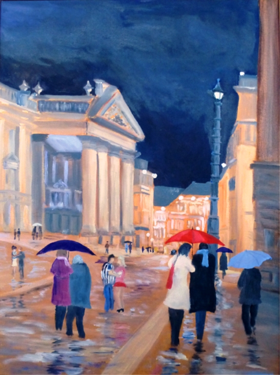 Rain on Dacre Street, Newcastle