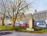 Rothbury High Street  Watercolour 40 X 30 cm