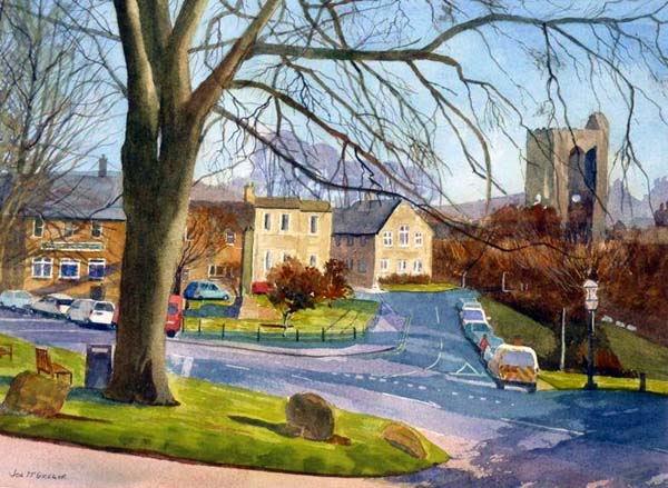 Rothbury From the High Street  Watercolour  40 X 30 cm