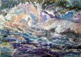 Rough Seas  Acrylic Framed 54 X 34 cm  £120