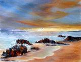 Seashore, Acrylic, 55 X 64cm, £150