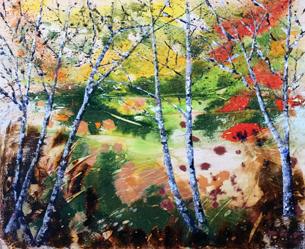 Silver Birch  Mixed Media  46 x 55 cm £100