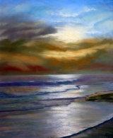 Solway Sunset, Pastel, 50 X 40 cm