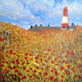 Souter lighthouse, oil on boxed canvas, 20x20cm, £40