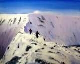 "Striding Edge Challenge  Oils, unframed, 16x20""  £150"