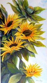 Sunflowers  Acrylic  55 X 77cm  Framed  £150
