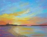 Sunrise, Newbiggin by the Sea  Pastels  40 X 30cm