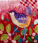 'Eileen's Garden'  A detail (10 X 10 ins) of a very large hand embroidery