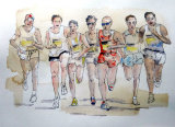 The Race is on Watercolour, 45cm X 55cm, £80 Framed