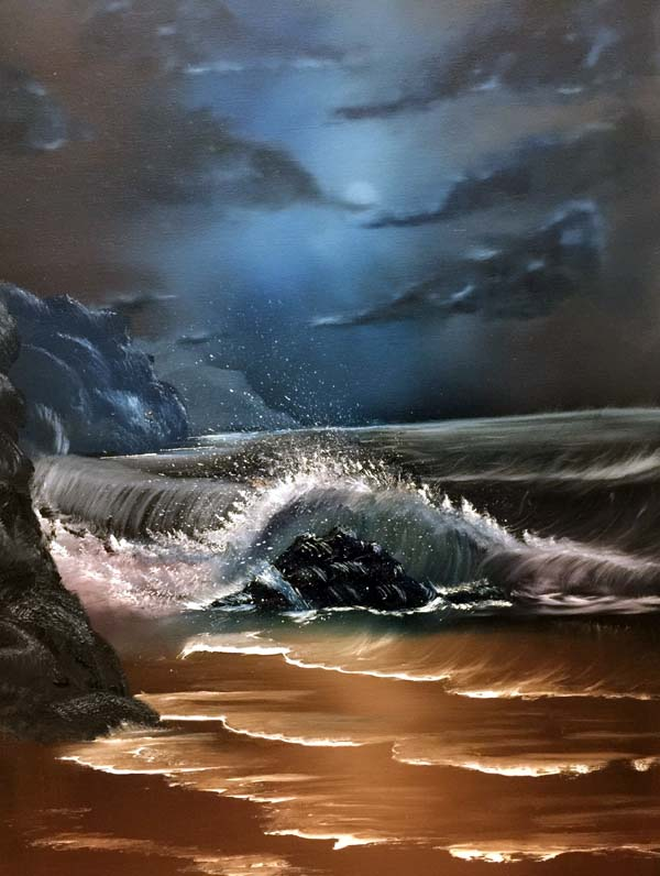 By the Light of the Moon, Oils, 18 X 24 in, £99