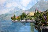 Varenna, Lake Como  Watercolour  28cm X 20cm   £120