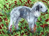 "Bedlington Terrier, Mounted watercolour, 10x 8"", £25"