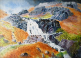 Storm brewing over Sour Milk Ghyll, oils, 40x30cm, framed, £200