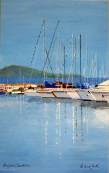 Alghero, Sardinia, Acrylic, 27x17cm, £120