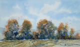 Autumn trees, 30x17.5cm, watercolour, £45