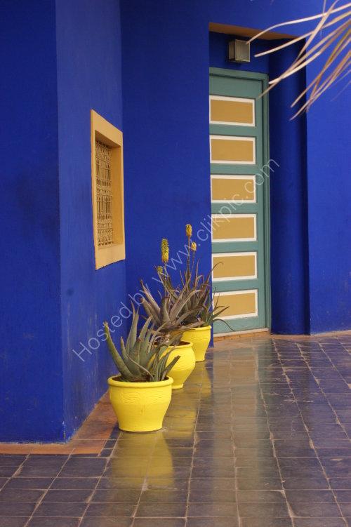Pots in Jardine Majorelle Marrakech