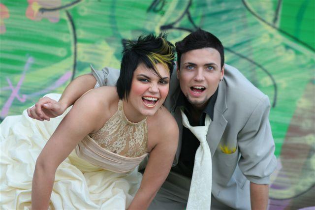 funky wedding makeup 7