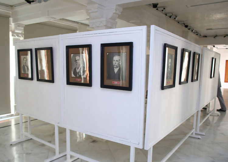Installation of archive prints at Udaipur City Palace