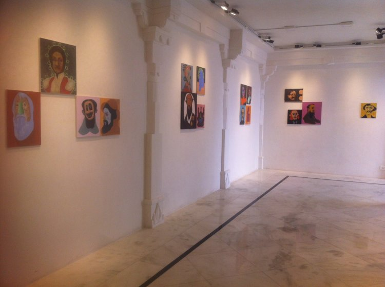Installation view of 'Roar Like a Paintbrush'