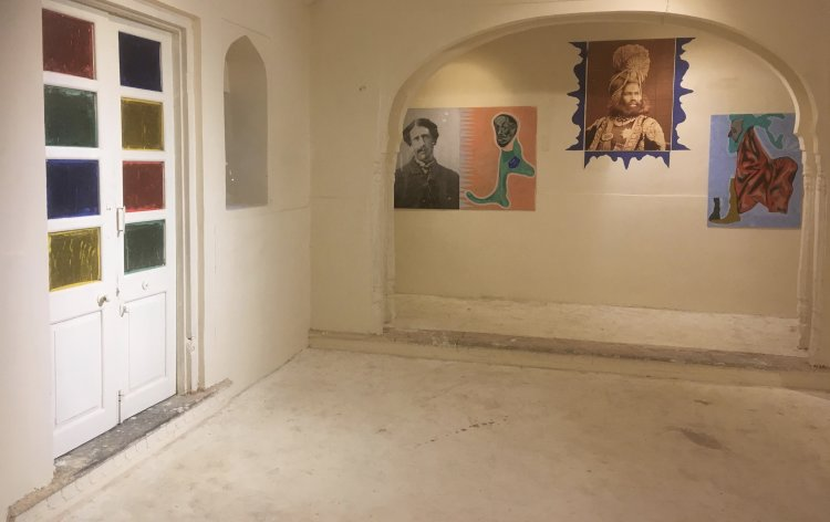 Installation view of one wall of Hobson-Jobson