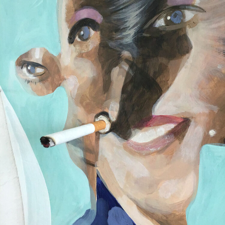 Detail of 'Having a Fag with Mag'