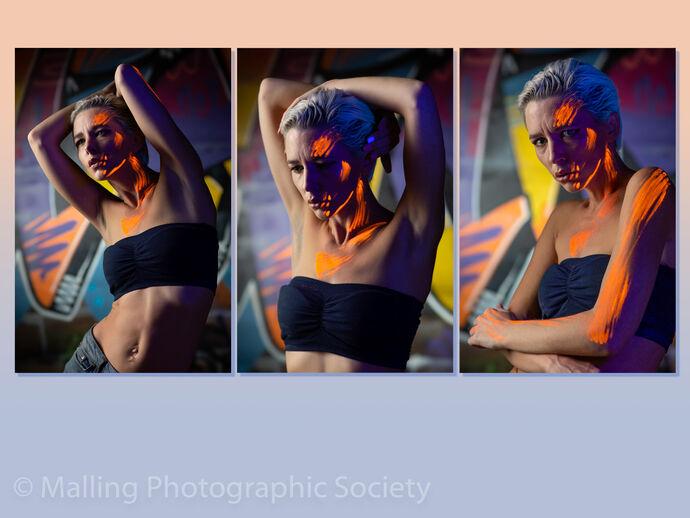 1 Amie - Fluorescent Make-up by Paul Davison