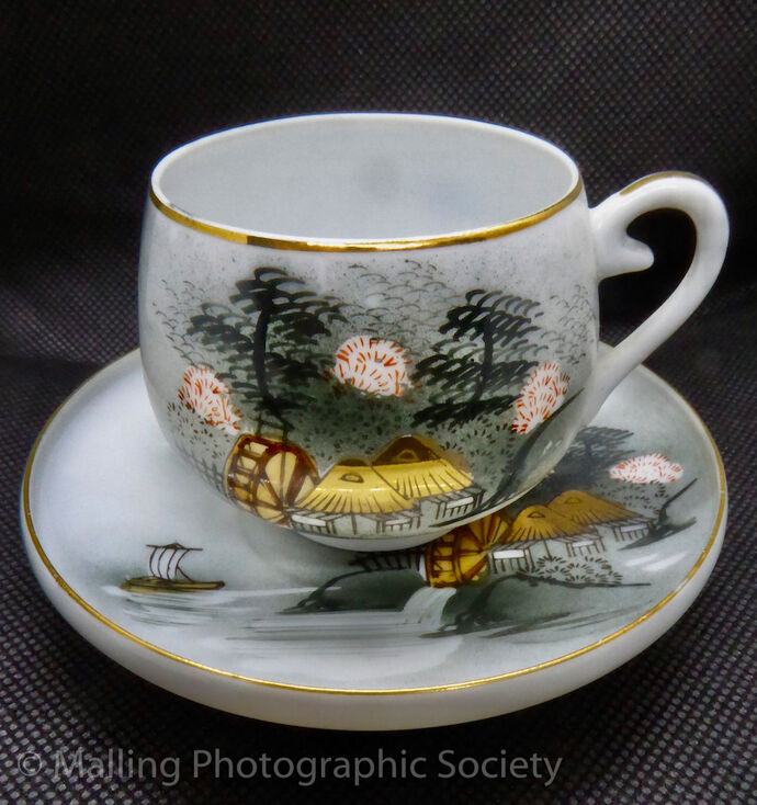 1 JAPANESE COFFEE CUP AND SAUCER by Ann Howard