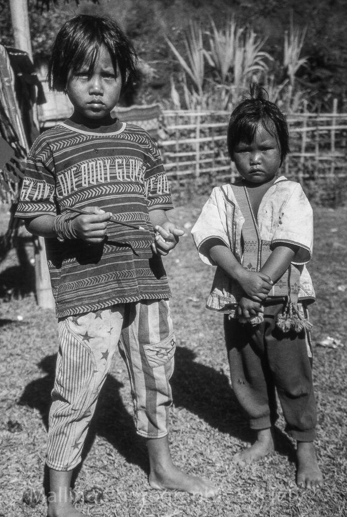 1 NORTHERN THAILAND VILLAGE CHILDREN by David Furness