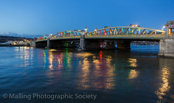 1 Rochester Bridge at Twilight by David Furness