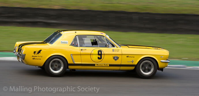2 Mustang Sally at Brands Hatch by John Horne