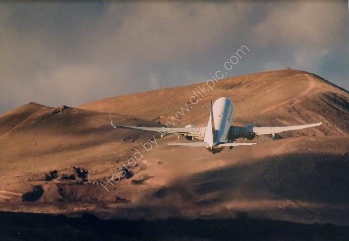 Take off over Lunar Landscape