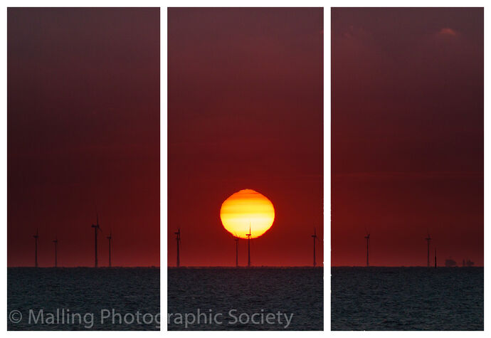 2 Turbine Sunset by Rich Day