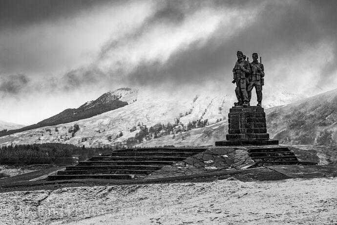 2 'UNITED WE CONQUER' COMMANDO MEMORIAL SPEAN BRIDGE by Paul Davison