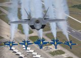 Air to Air with F-22 and Blue Angels