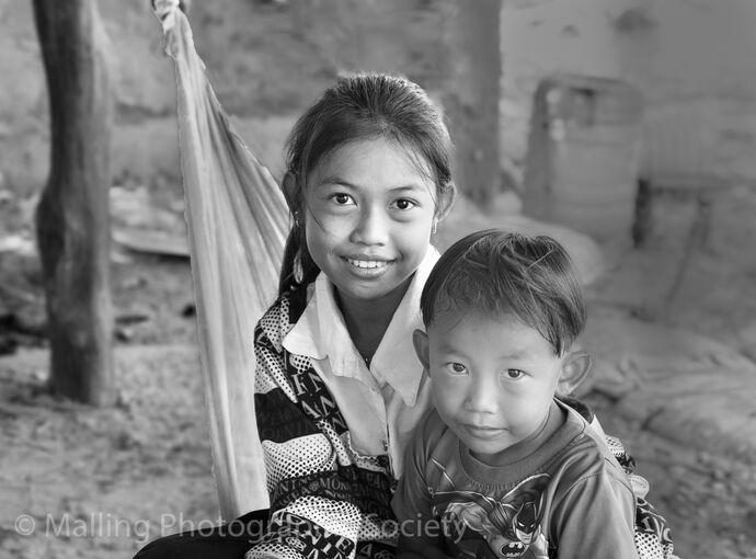 3 Cambodian Children by David Alston