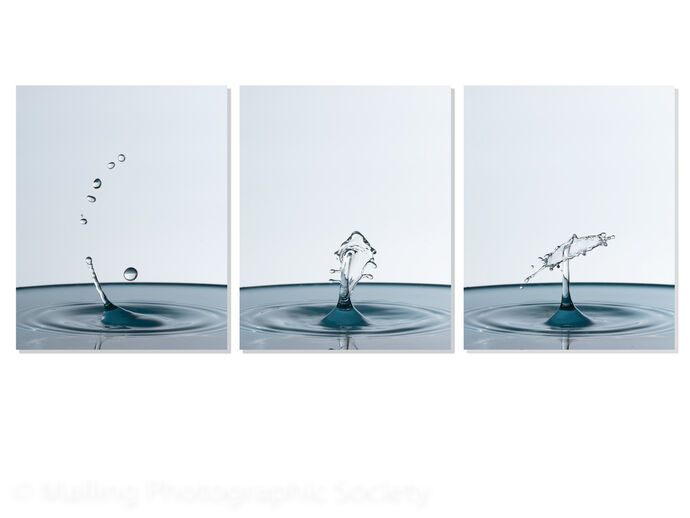 3 Droplet Collision - Evolution by Paul Davison
