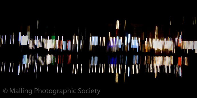 3 HARBOUR QUAY CANARY WHARF AT NIGHT by Tania Murray