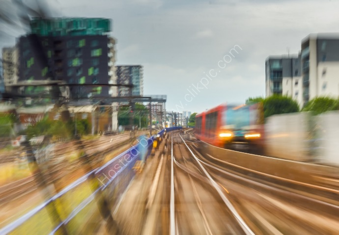 Trains Passing in Docklands