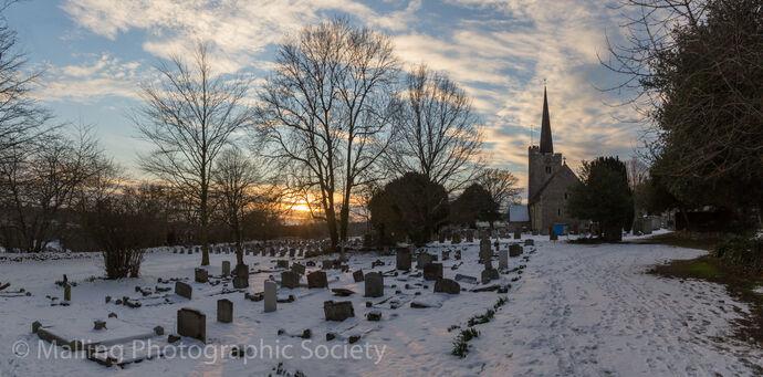 3 WINTER CHURCHYARD by David Furness