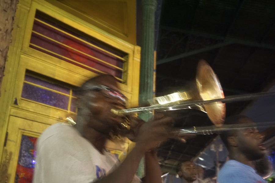 Trombonist V at the Frenchman  New Orleans
