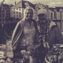Tina and me (summer 2014, when she made a serie of food program in Norway)-Brosundet... Aalsund