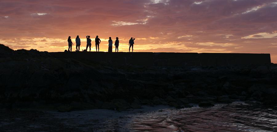 Breakwater sunset Giske