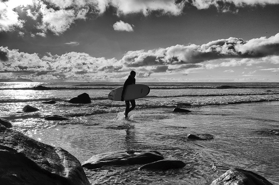 Surfer at Alnes
