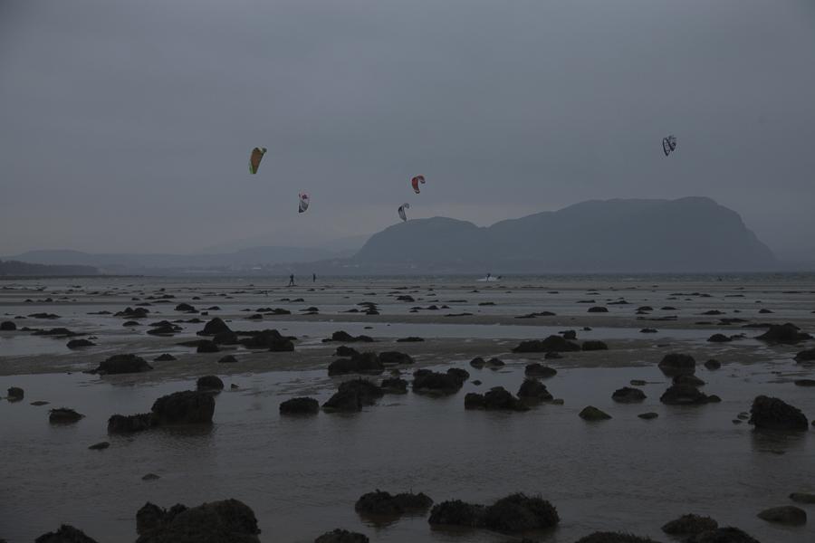 Kiters at the beach