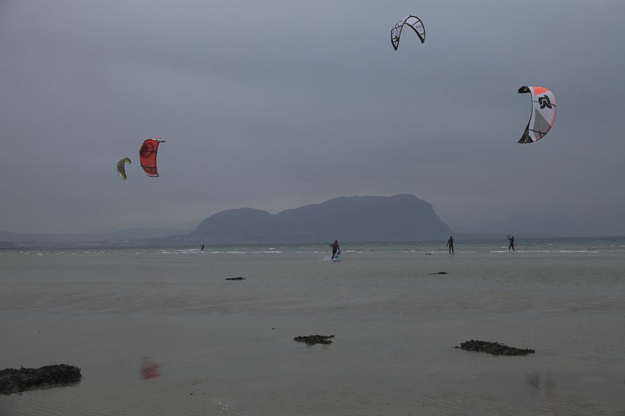 Kiters  with Valderøya in background